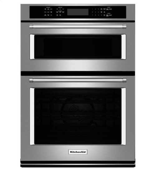 """KitchenAid® 30"""" Combination Wall Oven with Even-Heat True Convection (Lower Oven) - Stainless Steel"""