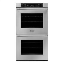 "30"" Heritage Double Wall Oven in Black Glass - ships with stainless steel Pro Style handle."