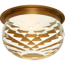 Visual Comfort S7000HAB-CG Studio Hillam LED 6 inch Hand-Rubbed Antique Brass Flush Mount Ceiling Light