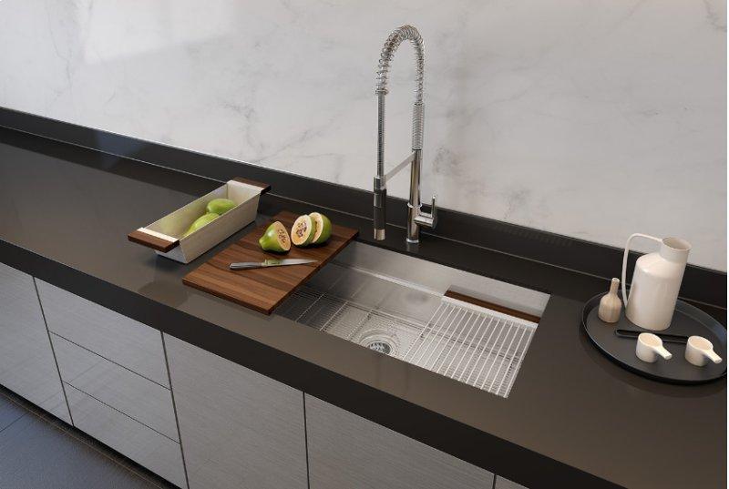 hidden additional smartstation 005452 undermount stainless steel kitchen sink 30 18 1 - Undermount Stainless Steel Kitchen Sink