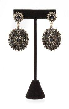 BTQ Black Medallian Earrings