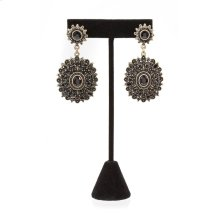 BTQ Black Medallian Earrings