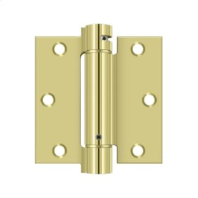 "3 1/2""x 3 1/2"" Spring Hinge - Polished Brass"