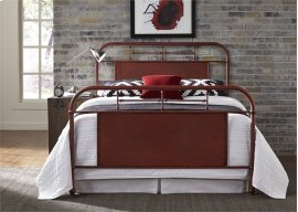 King Metal Bed - Red