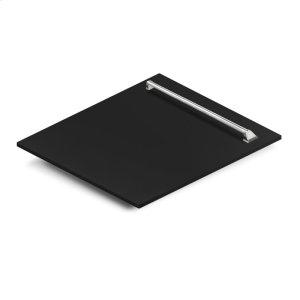 "Zline Kitchen24"" Dishwasher Panel in Black Matte with Traditional Handle (DP-BLM-24)"