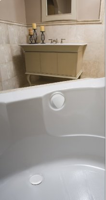 """TurnControl Bath Waste and Overflow A dazzling turn Molded plastic - White Material - Finish 17"""" - 24"""" Tub Depth* 27"""" Cable Length"""