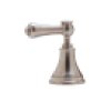 Polished Chrome Perrin & Rowe Georgian Era Five-Hole Bidet Faucet With Lever Or Cross Handles With Georgian Era Metal Lever With Porcelain Cap