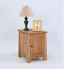 Chairside Cabinet - Distressed Pine Finish