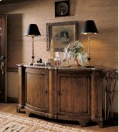 Somerset Credenza With Brown Marble Top
