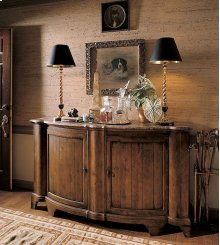 Town & Country Somerset Credenza With Brown Marble Top