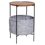 Olson KD End Table w/ Storage, Walnut Product Image