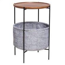 Olson KD End Table w/ Storage, Walnut