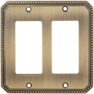Double Rocker Beaded Switchplate Product Image