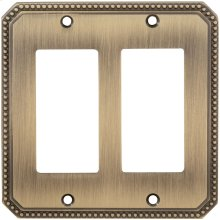 Double Rocker Beaded Switchplate