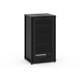 Salamander DesignsSynergy Solution 402, Single-Width AV Cabinet, Black with Black Posts