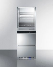 Fully Assembled Warming Cabinet & Two-drawer All-freezer Stacked Combination