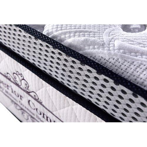 """15"""" Eastern King Memory Foam Pocket Coil Mattress"""