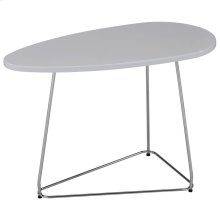 Onyx Accent Table in White