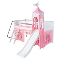Fabric Tower : Soft Pink/White