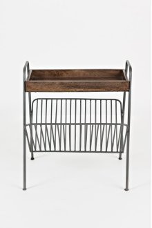Global Archive Magazine Rack Chairside Table