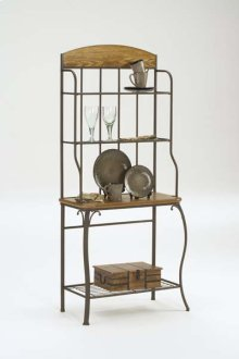Lakeview Baker's Rack Wood Top