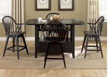 Center Island Table Base - Black