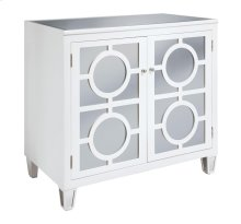 Circles White 2-Drawer Cabinet