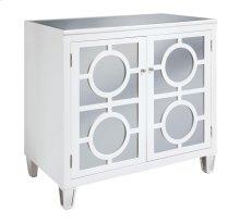 Circles White 2-Drawer Cabinet
