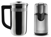 Exclusive Precision Press Coffee Maker + Coffee Grinder Set - Stainless Steel Product Image