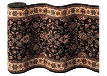 Floral Herati - Black-Teal 0600/3220A