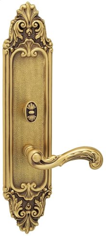 Exterior Ornate Mortise Entrance Lever Lockset with Plates in 57251 Classico Mortise Lockset Interior Trim