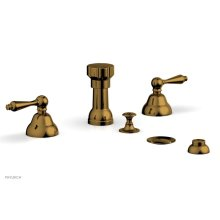 REVERE & SAVANNAH Four Hole Bidet Set D4100 - French Brass