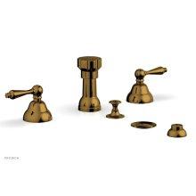 REVERE & SAVANNAH Four Hole Bidet Set D4100 - French Brass