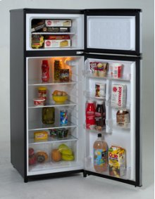 Model RA7316PST - 7.4 CF Two Door Apartment Size Refrigerator - Black w/Platinum Finish