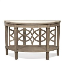 Parkdale Demilune Sofa Table Dove Grey finish