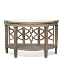 Parkdale Demilune Sofa Table Dove Grey finish