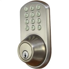 Touchpad Electronic Dead Bolt (Satin Nickel)