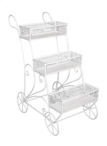 3-tier White Metal Display Cart, Kd