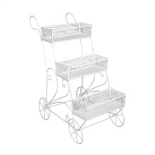 3-tier White Metal Display Cart, Kd
