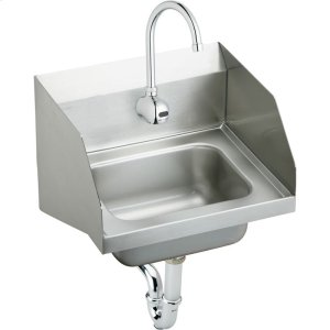 "Elkay Stainless Steel 16-3/4"" x 15-1/2"" x 13"", Single Bowl Wall Hung Handwash Sink Kit Product Image"