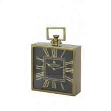 Clock 30x10x30 cm LONDON antique bronze-black
