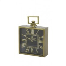 Clock 30x10x30 cm LONDON antique bronze-black