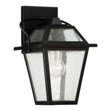 Black Ridge Outdoor Lantern in Mystic Black