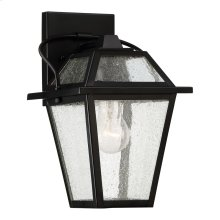 Black Ridge Outdoor Lantern in Mystic Black