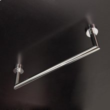 Wall-mount towel bar made of chrome plated brass