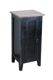 CC-TAB1025TLD-ABSV  Cottage 1 Door Accent Cabinet  Antique Black