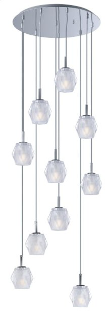 Tangent LED 10-Light Pendant