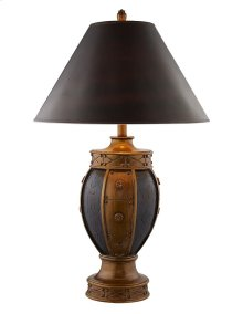 Copper & Burgundy Tulip Lamp