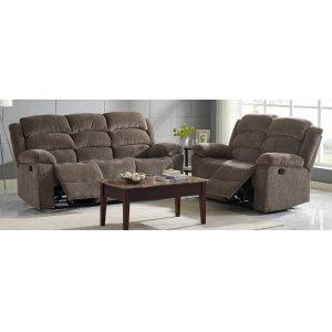 Dual Rec Power Sofa w/ Headrest