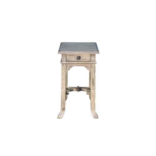 Accent Table, Available in Aged White Finish Only.